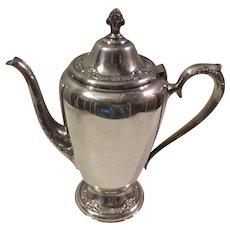 Sale Roger's & Bro Silverplate Floral Teapot Coffee Pot