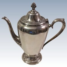 Roger's & Bro Silverplate Floral Teapot