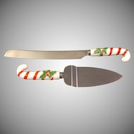 Holly Berry Cake Knife and Cake or Pie Server Japan