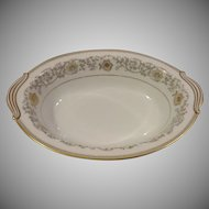 Noritake 5819 Oval Serving Bowl Goldette Pattern