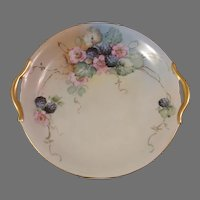 Nippon Hand Painted Floral Cake Plate