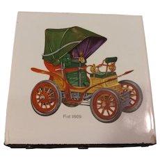 Vintage Ceramic Tile 6 Drawer Match Holder