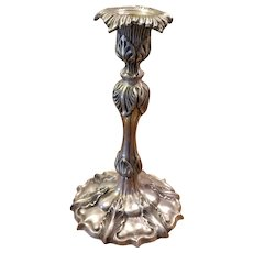 Acanthus Leaf Heavy Silverplate Candleholder Candlestick