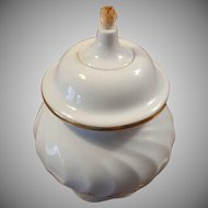 Porsgrund Norway White Porcelain Oil Lamp