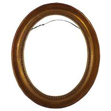 Vintage Wood Oval Gold Paint Frame