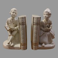 Sale Porcelain Colonial Figurine Bookends