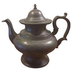 Antique Pewter Teapot