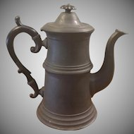 Antique Pewter Coffee Tea Pot
