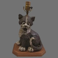Clearance Sale Resin Smiling Cat Table Desk Lamp