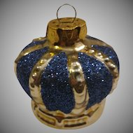Glass Crown Christmas Ornament