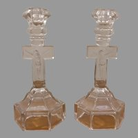 Pair of Crucifix Candlesticks