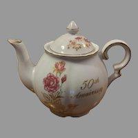 Treasure Masters Romance Rose Collection 50th Anniversary Teapot
