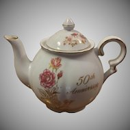 Treasure Masters Romance Rose Collection 50th Anniversary Teapot