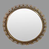 Sale Vintage Goldtone Filigree Mirror Vanity Tray