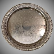 Engraved Leonard Silverplate Tray