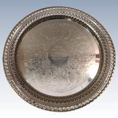 Engraved Leonard Silverplate Tray