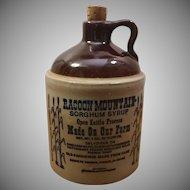 Racoon Mountain Sorghum Syrup Bicentennial Limited Edition Stoneware Jug
