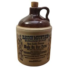Racoon Mountain Sorghum Syrup Bicentennial Limited Edition Stoneware Jug
