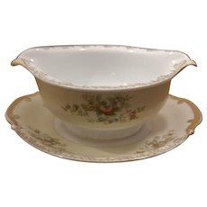 Sale Meita China Made in Japan Gravy Boat with Attached Underplate