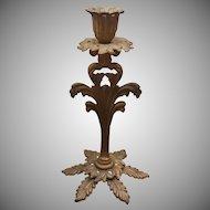 Floral Leaf Bronze Candlestick