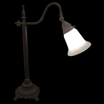 Bronze Metal Desk Lamp Adjustable Shade