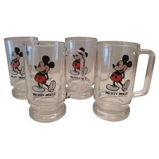 Vintage Mickey Mouse Glass Mug