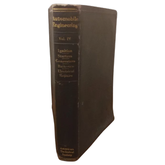 1924 Edition Automobile Engineering Vol IV