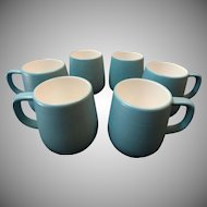 Set of 6 Mikasa Terra Stone Bristol Blue Coffee Cups