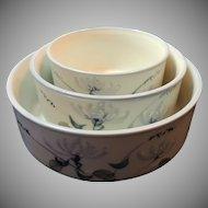 Set of 3 Made in Japan Serving Bowls