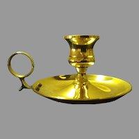Sale Vintage Brass Chamberstick Candleholder with Finger Loop
