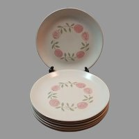 Vernon Ware Rose a Day Salad Desert Plates