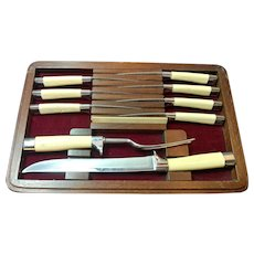 Carvel Hall by Briddell Cutlery Set Knife and Fork and Steak Knives and Storage Case