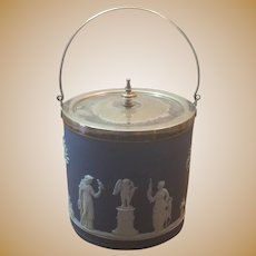 Late 19th Century Wedgwood Biscuit Jar Free Shipping