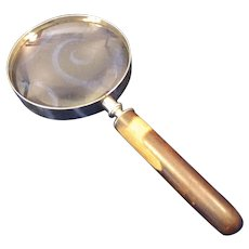 """4"""" Lens Magnifying Glass with Wood Handle Free Shipping"""