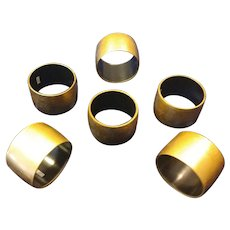 Lacquer Napkin Ring Japan Gold and Black
