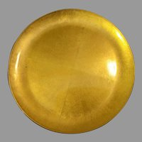 CTO JAPAN Lacquer Gold Gilt Serving Plate 11 3/4""