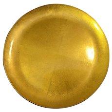 "CTO JAPAN Lacquer Gold Gilt Serving Plate 11 3/4"""