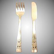 Oneida Community Plate Coronation Child Fork and Knife