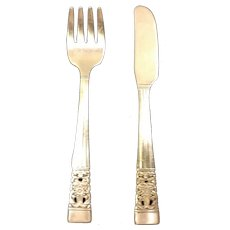 Oneida Community Plate Coronation Child Fork and Knife