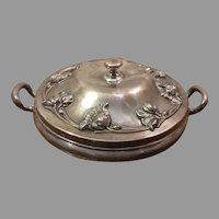 Forbes Silver Co Quadruple Silverplate Covered Serving Tray Warmer