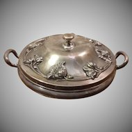 Forbes Silver Co Quadruple Plate Covered Serving Tray Warmer