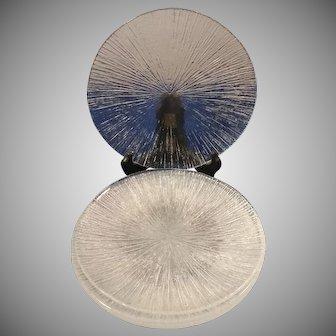 "Set of 6 Sasaki Rain Glass 7 1/2"" Salad Plates"