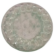 Indiana Glass Green Deviled Egg Tray Platter Plate