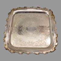 International Silver IS Webster Wilcox Square Serving Tray