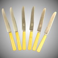Set of 6 Universal Resistain Stainless Steel Butter Knives