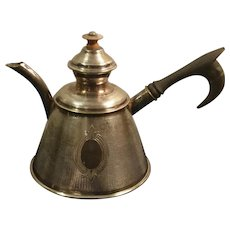 Vintage Arabic Silverplate Hinged Lid Teapot / Coffee pot