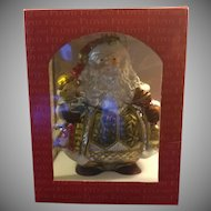 Fitz and Floyd Classics Large Blown Glass and Hand Painted Santa Ornament 19/1102