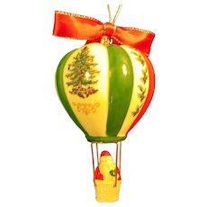 Spode Santa in a Balloon Christmas Ornament