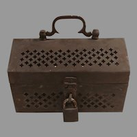 Vintage Footed Brass Cricket Cage / Box Free shipping