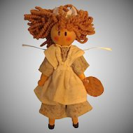 Clothes Pin Doll with Round Wooden Head